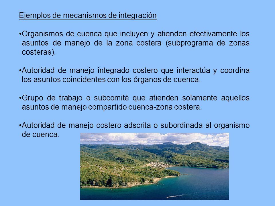 Ejemplos de mecanismos de integración