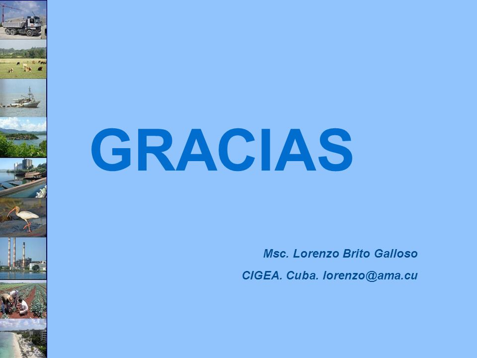 GRACIAS Msc. Lorenzo Brito Galloso CIGEA. Cuba. lorenzo@ama.cu