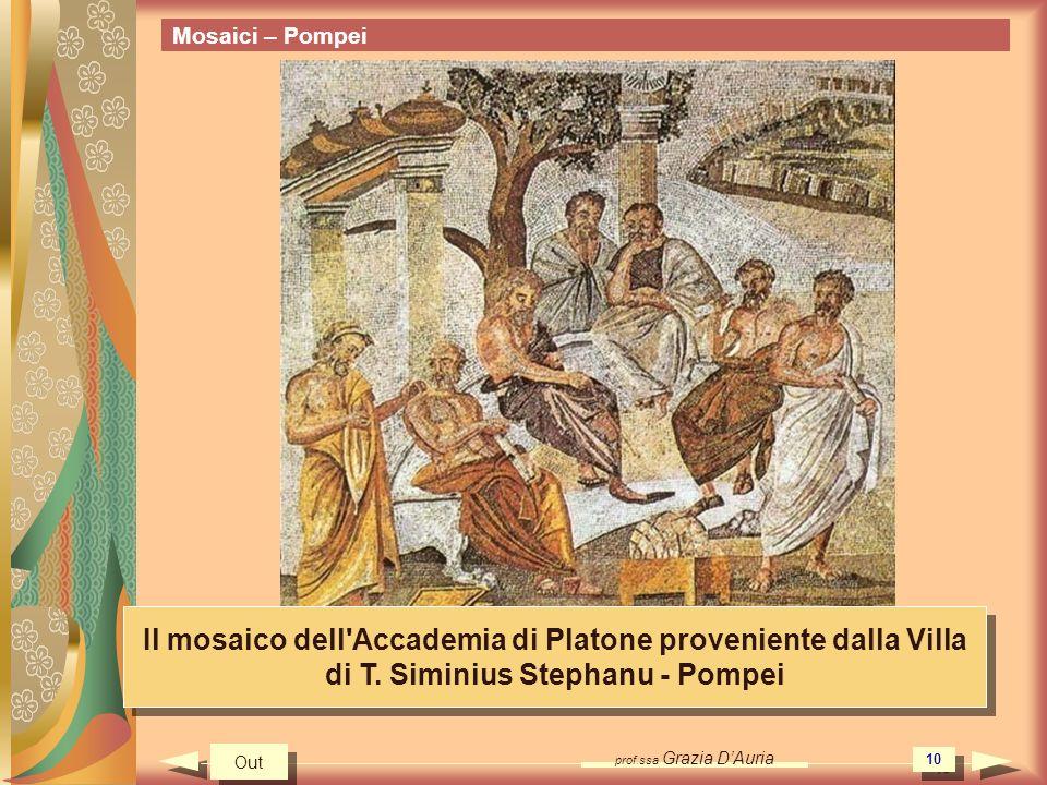 Mosaici – Pompei Il mosaico dell Accademia di Platone proveniente dalla Villa di T. Siminius Stephanu - Pompei.