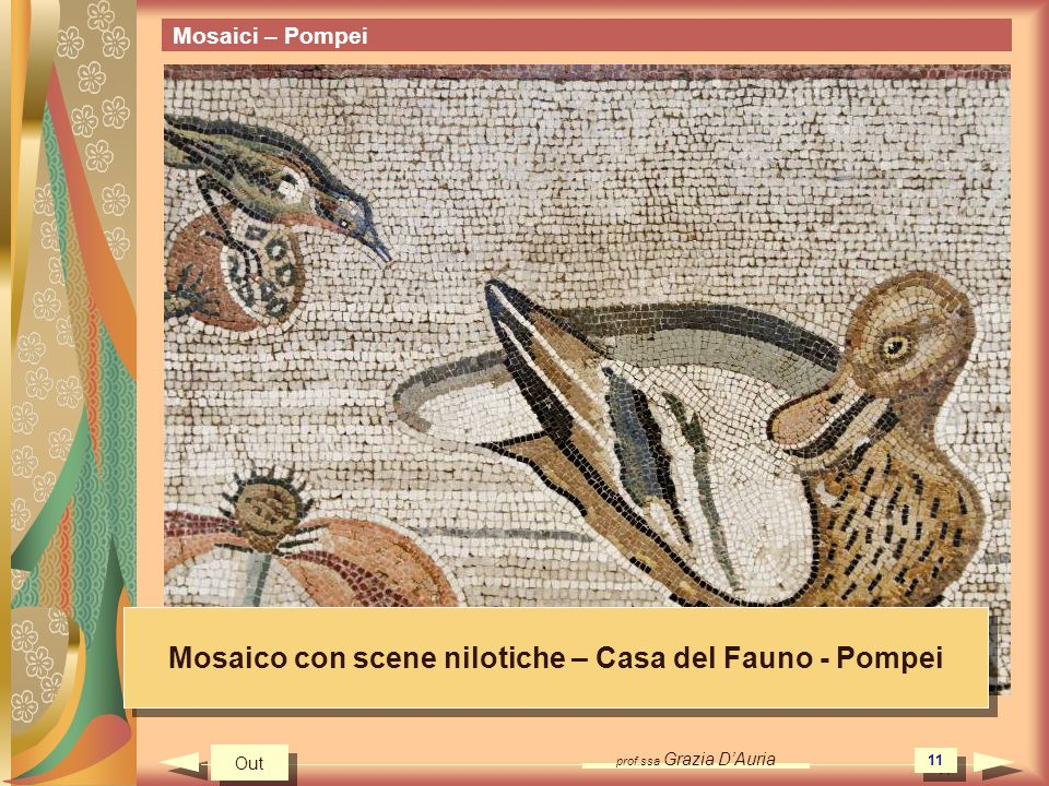Mosaico con scene nilotiche – Casa del Fauno - Pompei