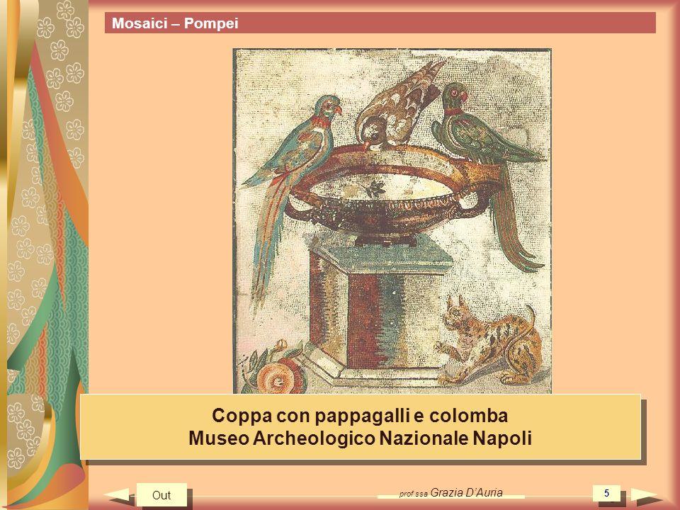 Coppa con pappagalli e colomba Museo Archeologico Nazionale Napoli
