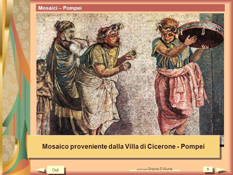 Mosaico proveniente dalla Villa di Cicerone - Pompei