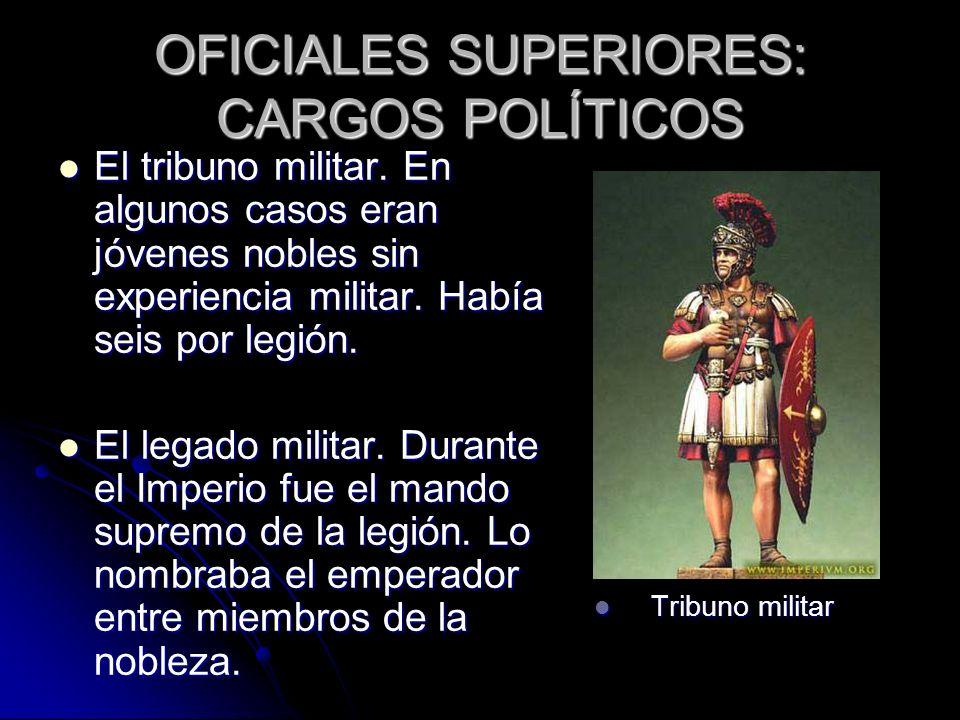 OFICIALES SUPERIORES: CARGOS POLÍTICOS