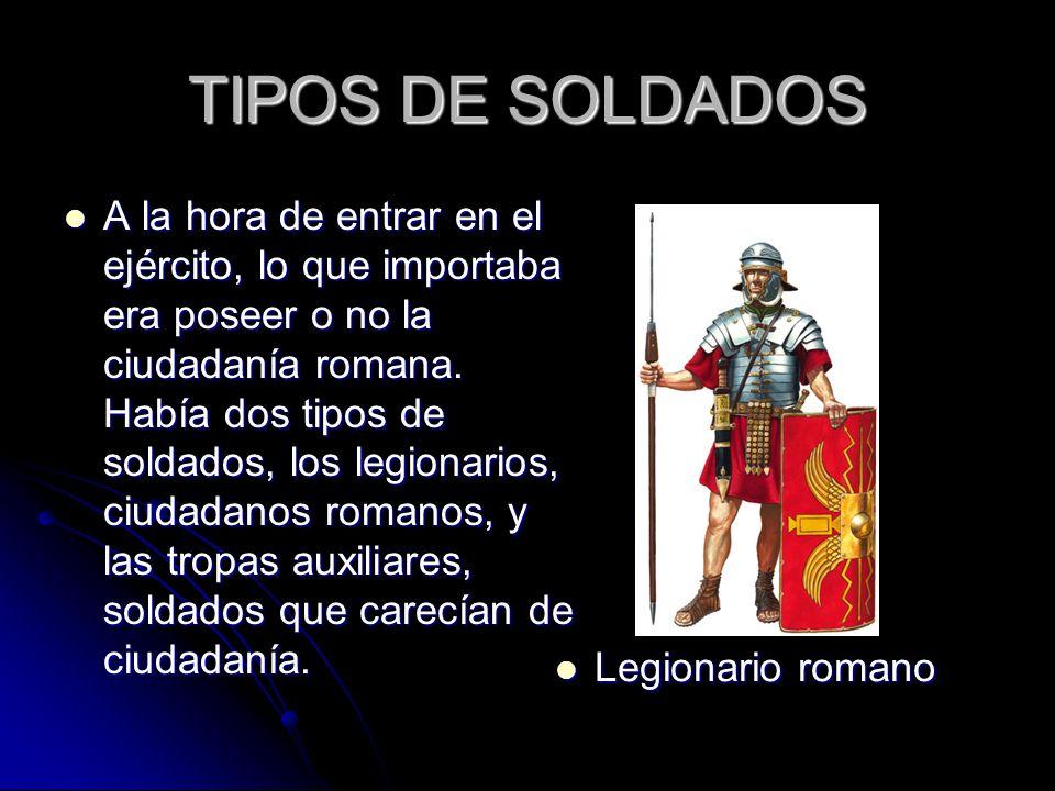 TIPOS DE SOLDADOS