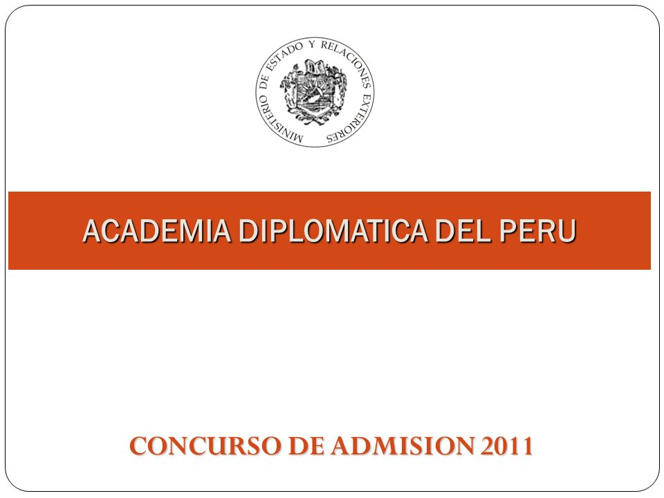 ACADEMIA DIPLOMATICA DEL PERU