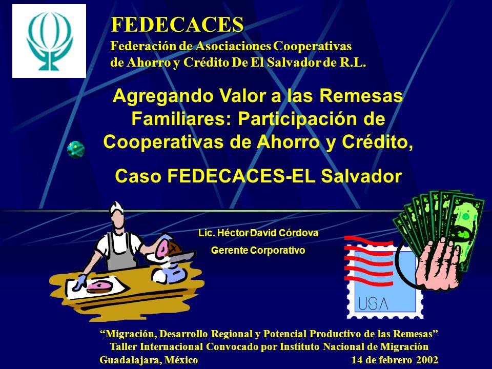 FEDECACESFederación de Asociaciones Cooperativas. de Ahorro y Crédito De El Salvador de R.L.