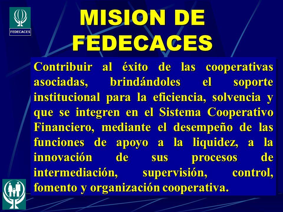 MISION DE FEDECACES FEDECACES.