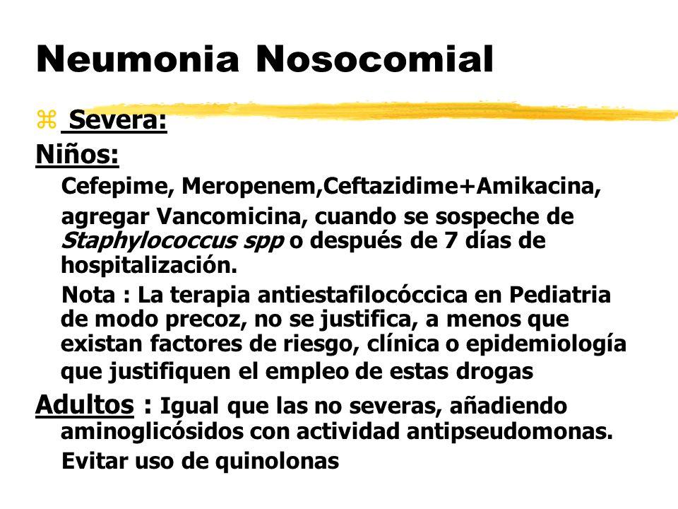 Neumonia Nosocomial Severa: Niños: