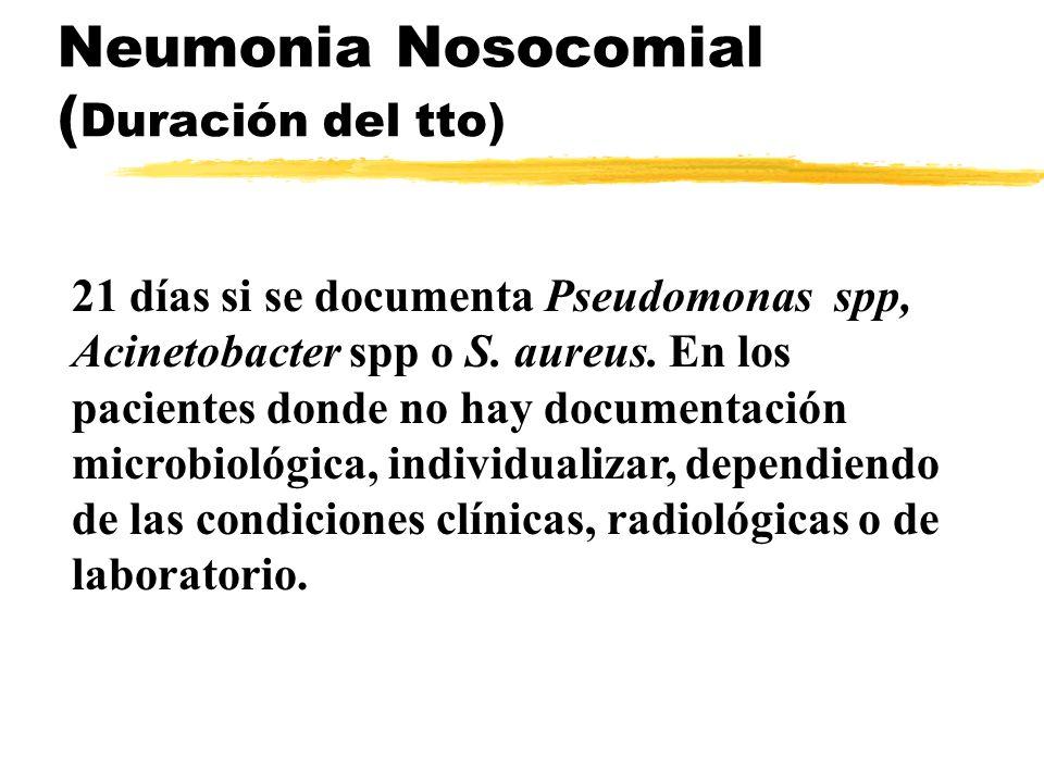 Neumonia Nosocomial (Duración del tto)