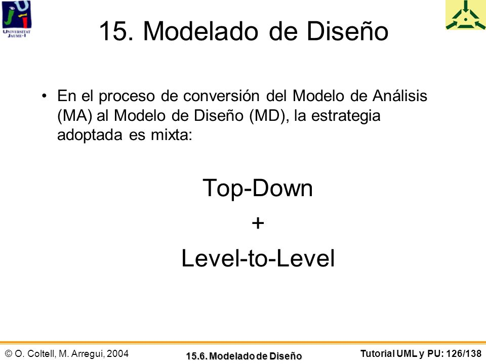 15. Modelado de Diseño Top-Down + Level-to-Level