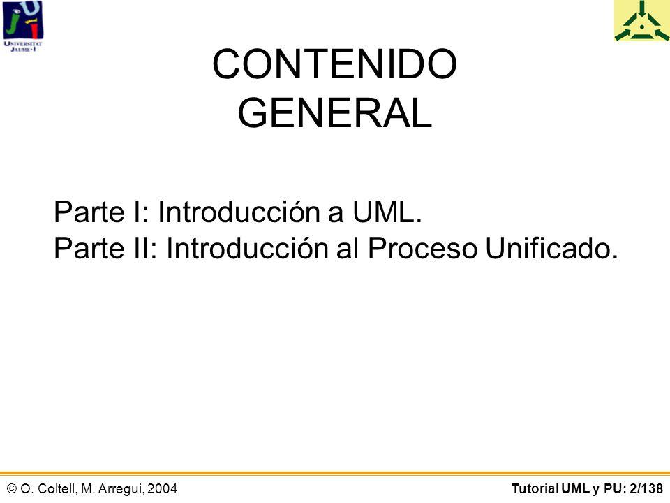 CONTENIDO GENERAL Parte I: Introducción a UML.