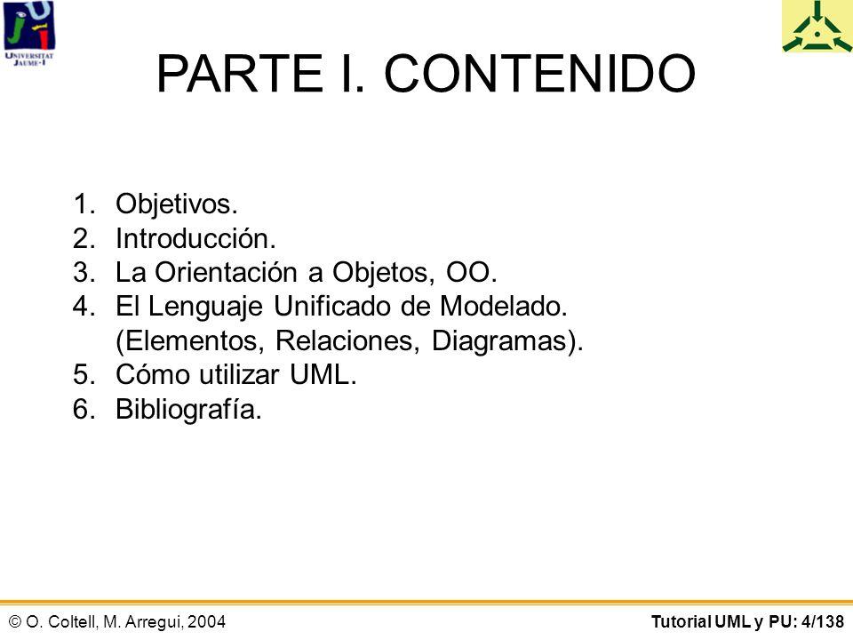 PARTE I. CONTENIDO Objetivos. Introducción.