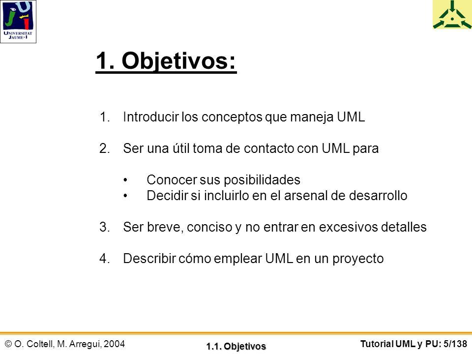 1. Objetivos: Introducir los conceptos que maneja UML