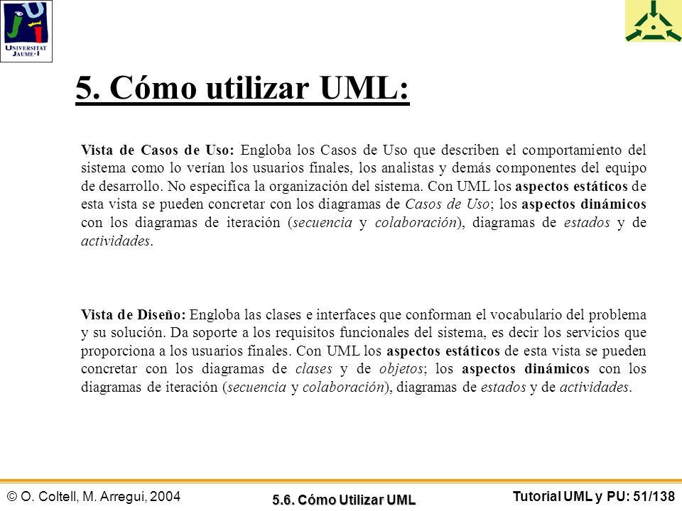 5. Cómo utilizar UML: