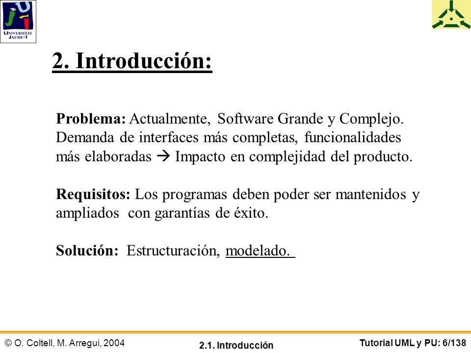 2. Introducción: Problema: Actualmente, Software Grande y Complejo.