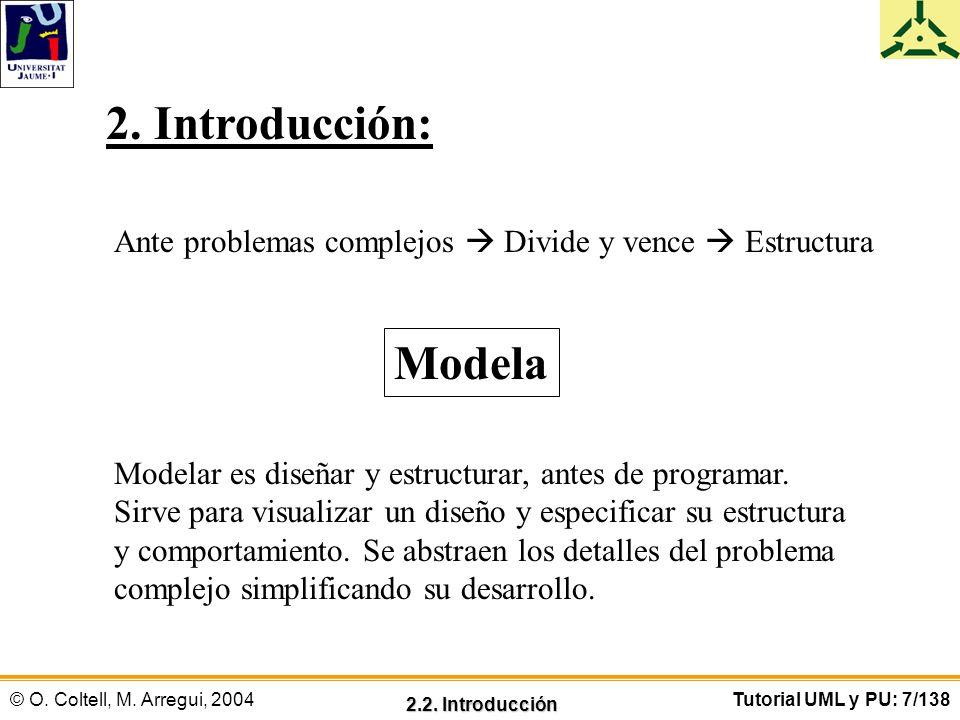 2. Introducción: Ante problemas complejos  Divide y vence  Estructura. Modela. Modelar es diseñar y estructurar, antes de programar.