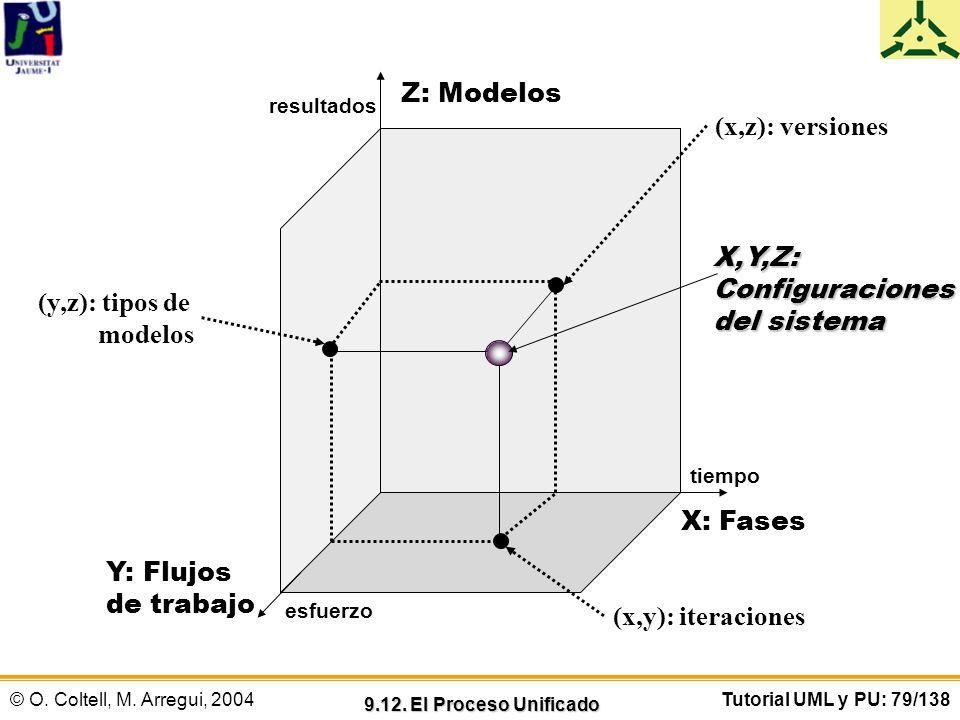 Configuraciones del sistema (y,z): tipos de modelos