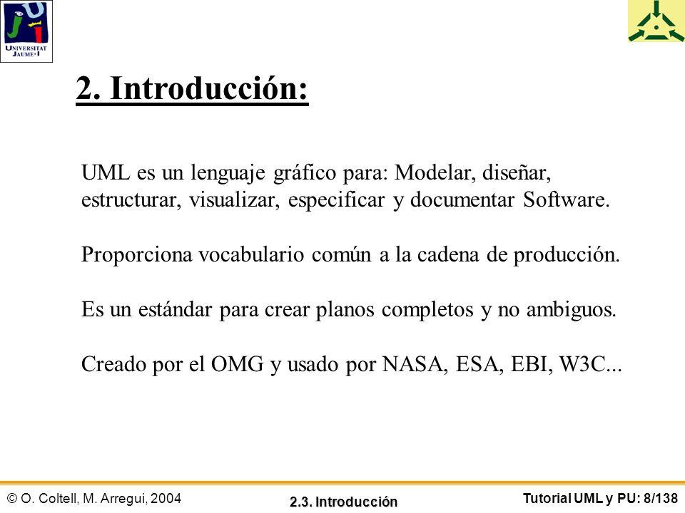 2. Introducción: UML es un lenguaje gráfico para: Modelar, diseñar,