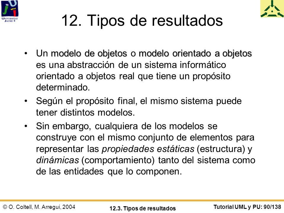 12. Tipos de resultados