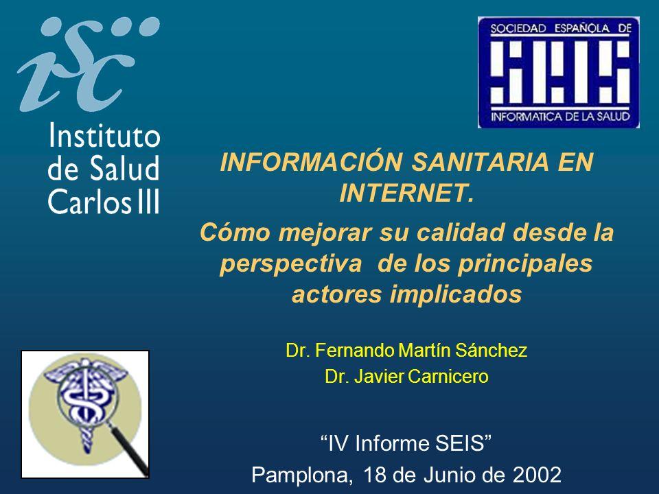 INFORMACIÓN SANITARIA EN INTERNET.