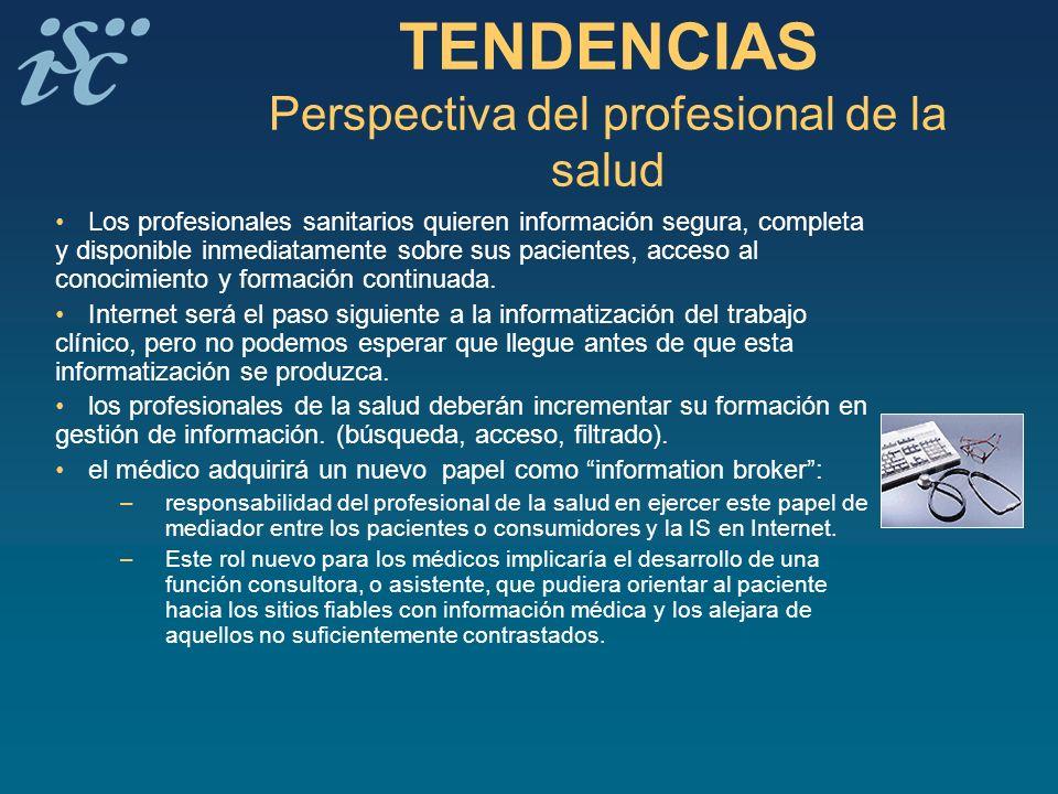 TENDENCIAS Perspectiva del profesional de la salud