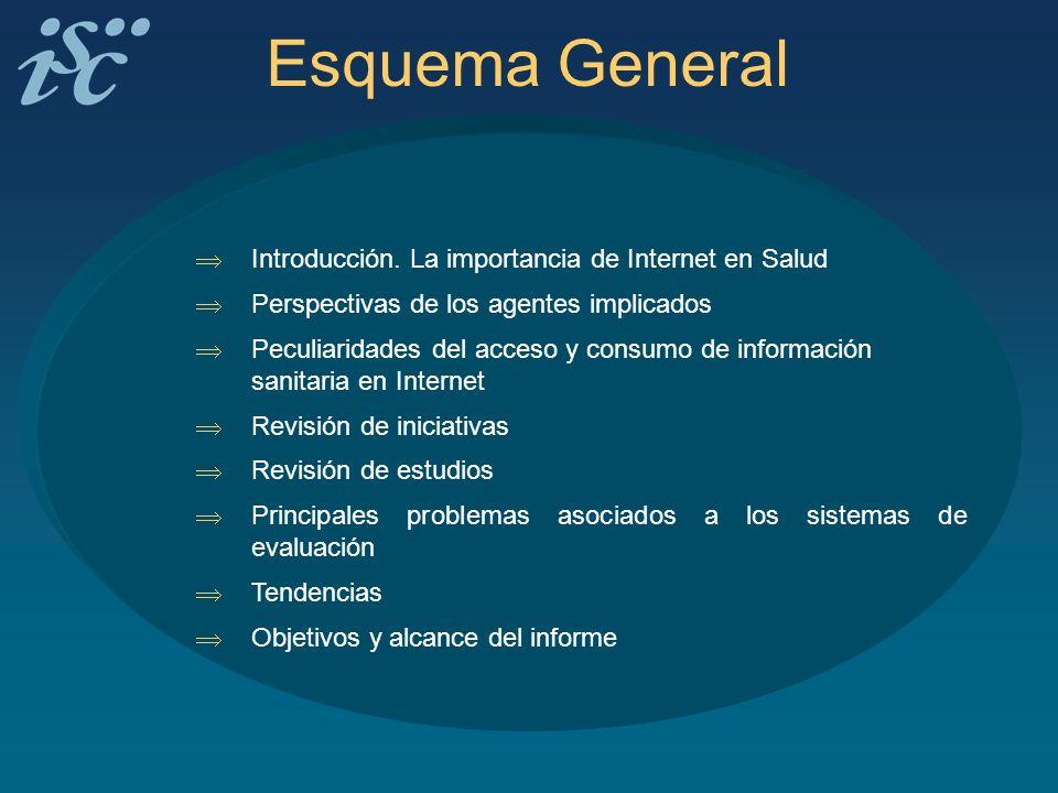 Esquema General Introducción. La importancia de Internet en Salud