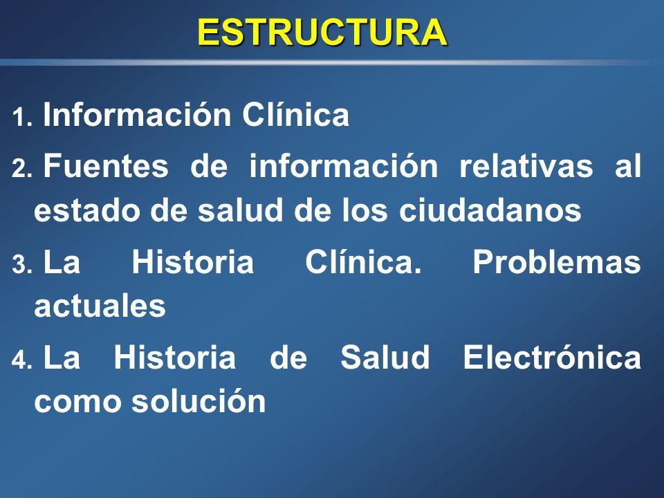 ESTRUCTURA Información Clínica