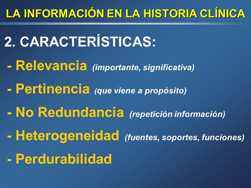 LA INFORMACIÓN EN LA HISTORIA CLÍNICA