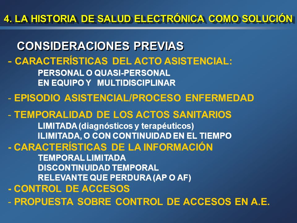 4. LA HISTORIA DE SALUD ELECTRÓNICA COMO SOLUCIÓN