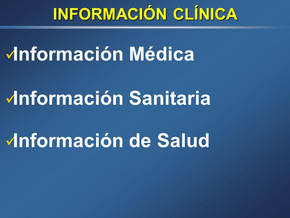 Información Sanitaria Información de Salud