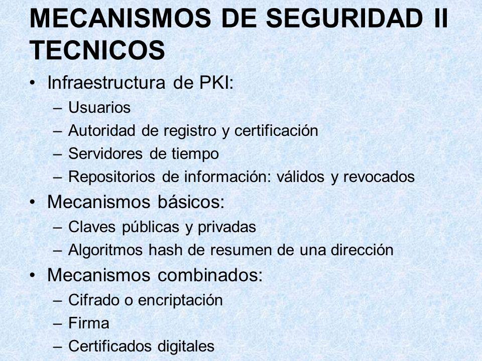 MECANISMOS DE SEGURIDAD II TECNICOS