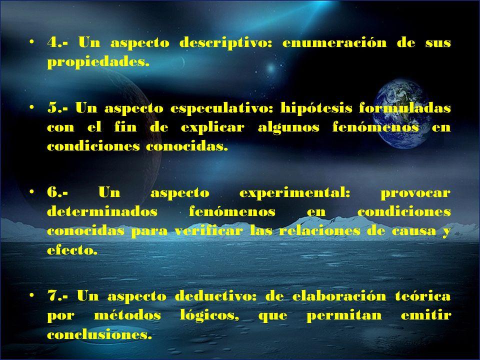4.- Un aspecto descriptivo: enumeración de sus propiedades.
