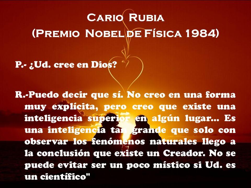 (Premio Nobel de Física 1984)