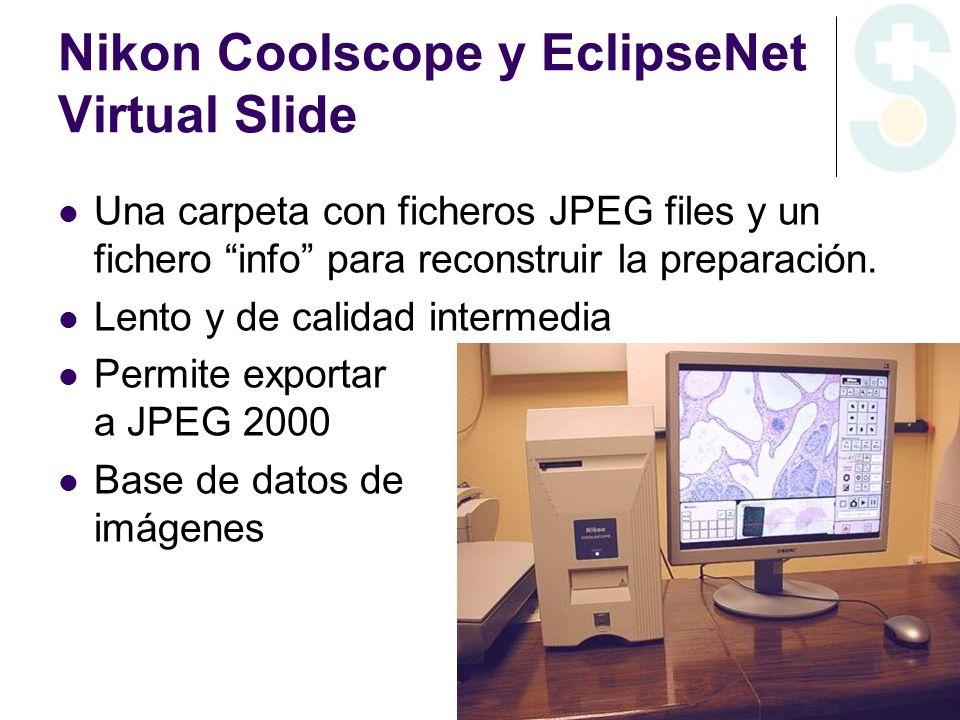 Nikon Coolscope y EclipseNet Virtual Slide