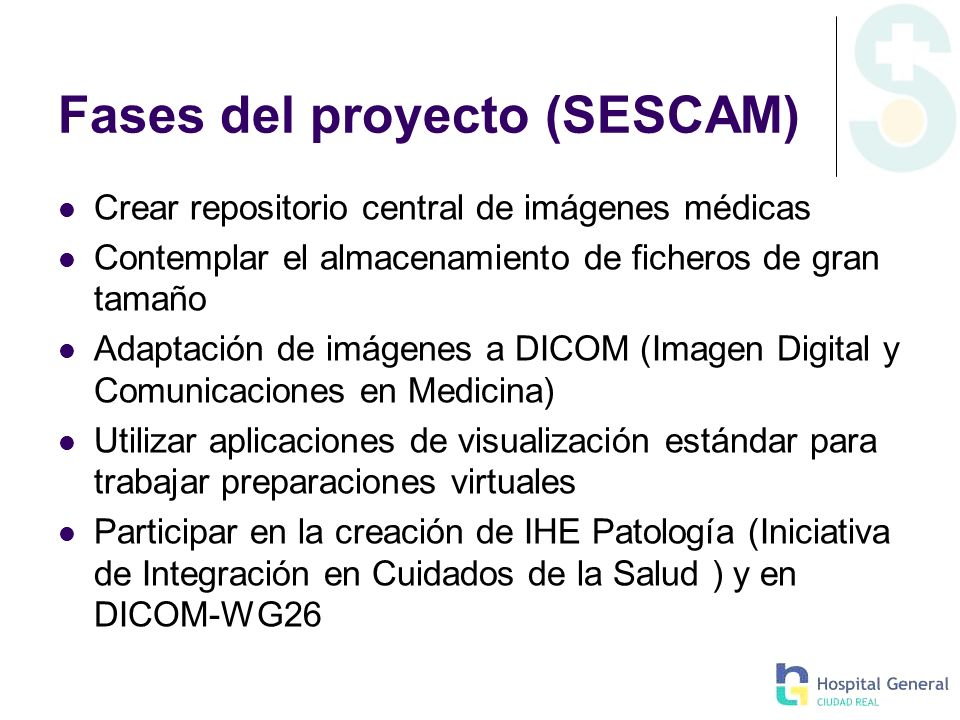 Fases del proyecto (SESCAM)
