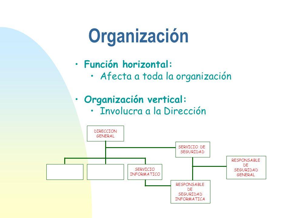 Organización Función horizontal: Afecta a toda la organización