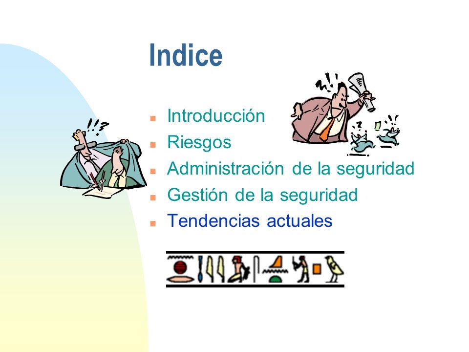 Indice Introducción Riesgos Administración de la seguridad