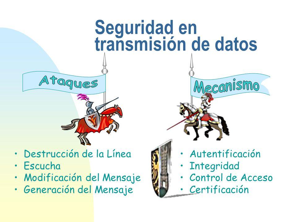 Seguridad en transmisión de datos