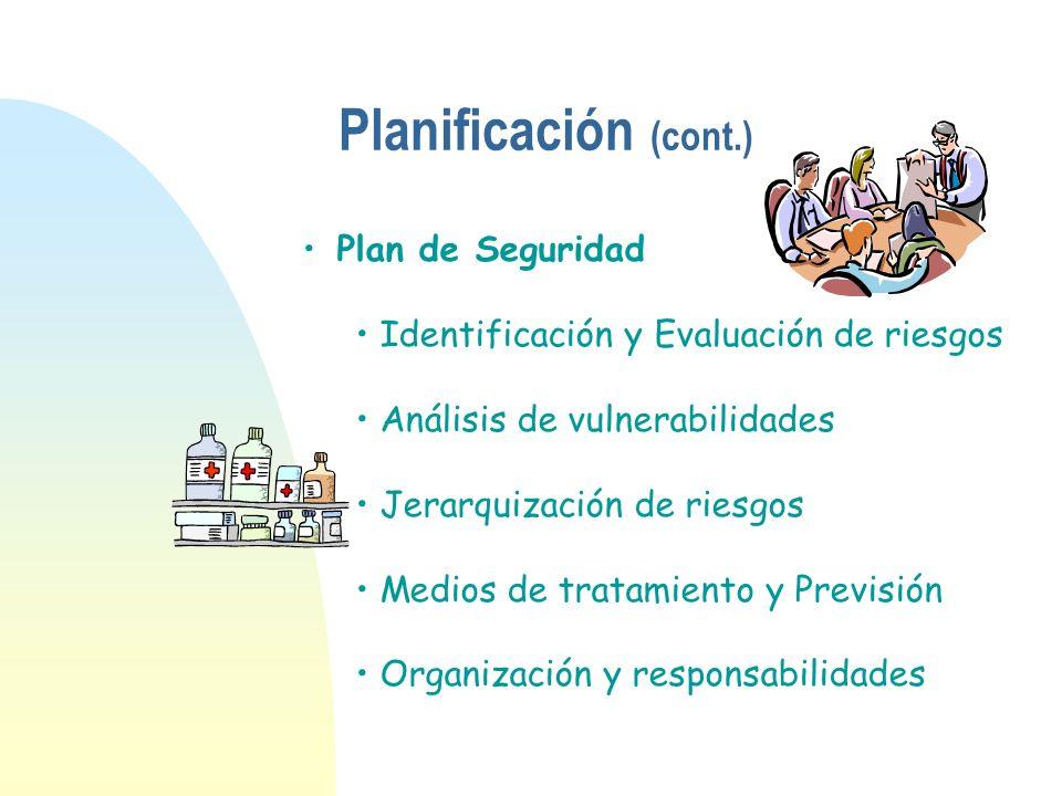 Planificación (cont.) Plan de Seguridad