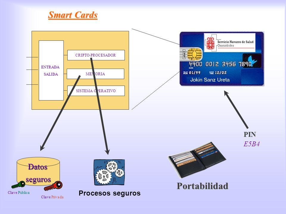 Smart Cards Smart Cards Portabilidad Datos seguros PIN E5B4