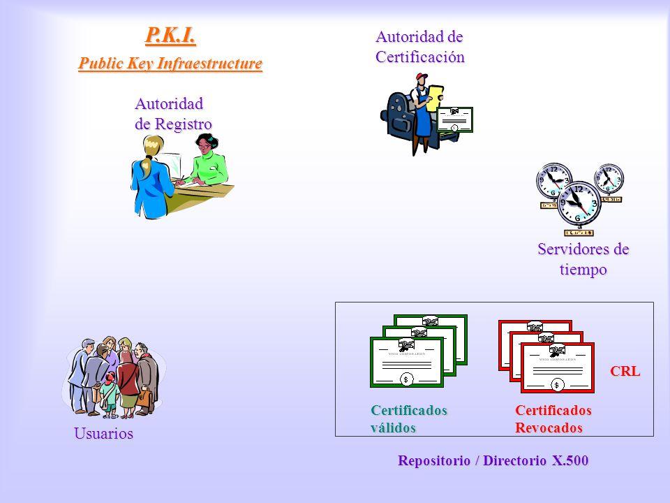 P.K.I. Public Key Infraestructure