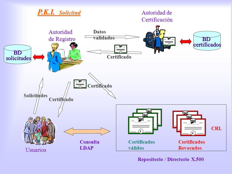 PKI, petición P.K.I. Solicitud Autoridad de Certificación