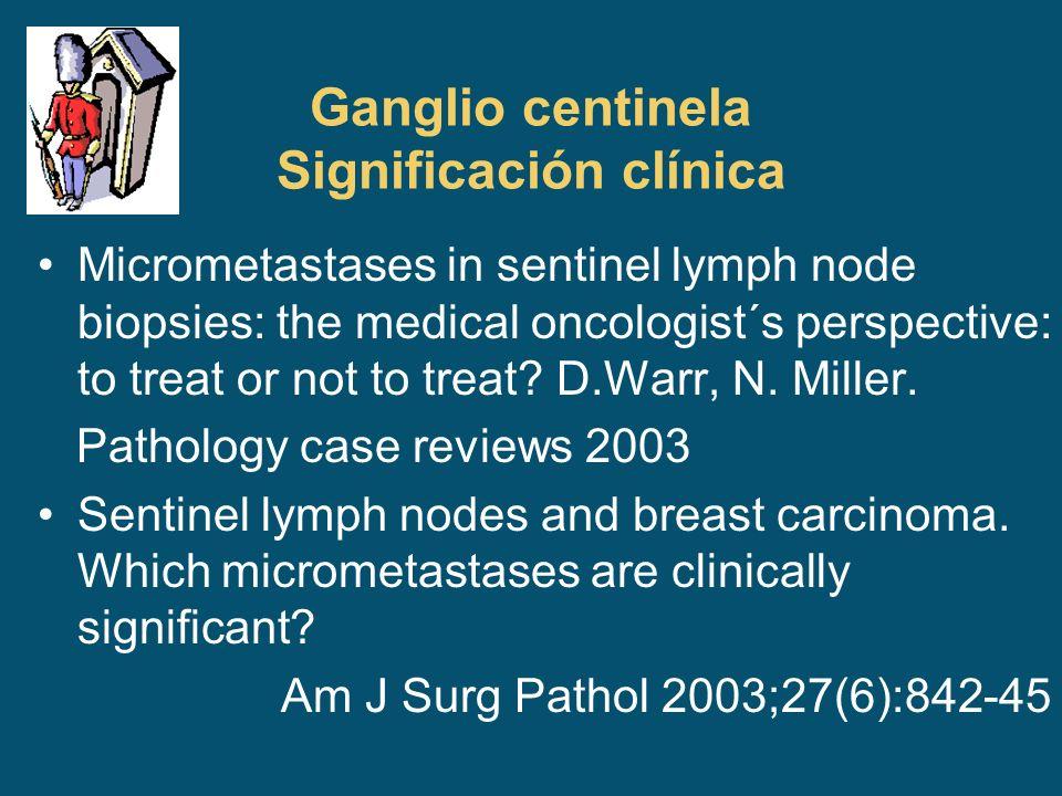 Ganglio centinela Significación clínica