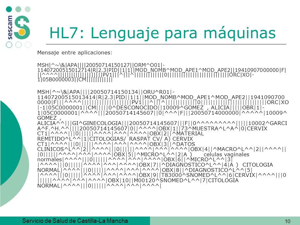 HL7: Lenguaje para máquinas