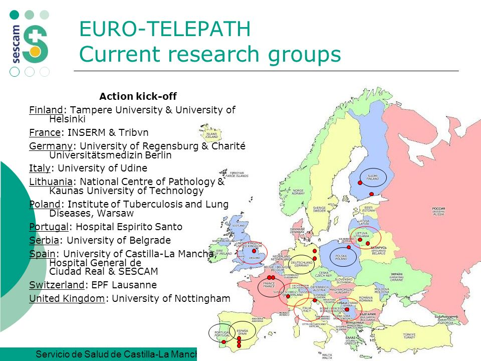 EURO-TELEPATH Current research groups