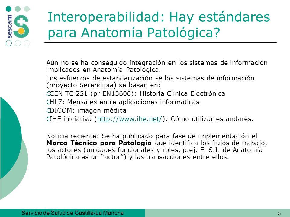 Interoperabilidad: Hay estándares para Anatomía Patológica