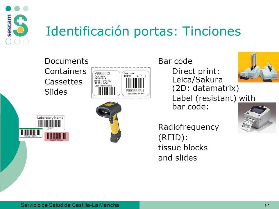 Identificación portas: Tinciones