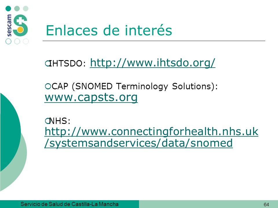 Enlaces de interés IHTSDO: http://www.ihtsdo.org/