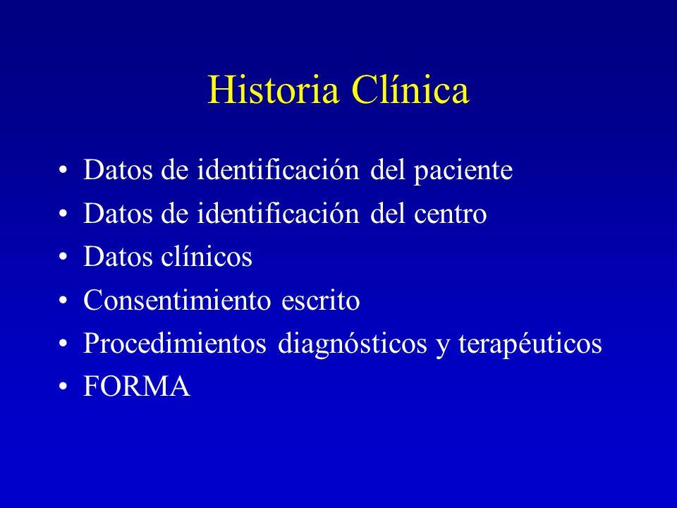 Historia Clínica Datos de identificación del paciente