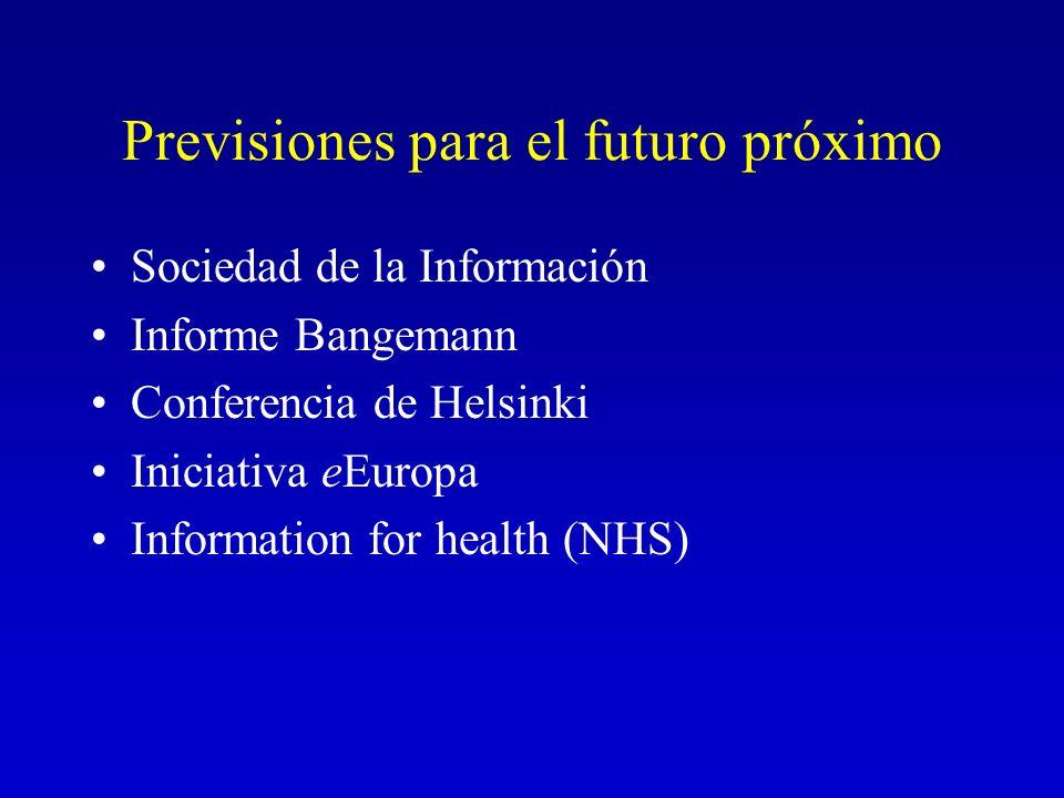 Previsiones para el futuro próximo